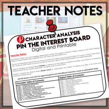 Character Traits Graphic Organizer | Pinterest Activity