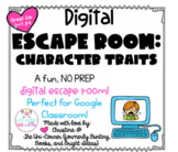 Character Traits: Digital Escape Room | Distance Learning,