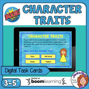 Character Traits Digital Task Cards on Boom Learning!