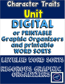 Character Traits Digital and Printable Unit