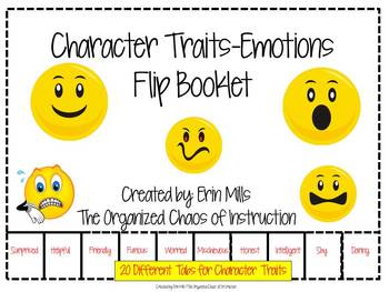 Character Traits-Emotions Flip Booklet