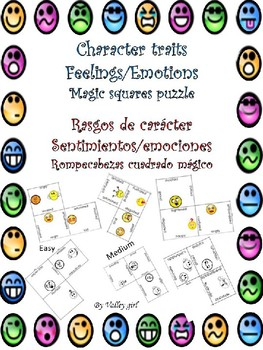 Character Traits Emotions for Dual Language Classroom