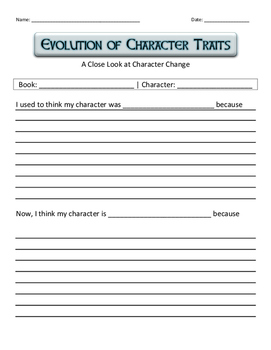 Character Traits Evolution