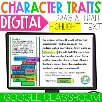 Character Traits Passages ~ Character Traits Reading Passages