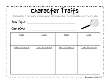 Character Traits FREEBIE