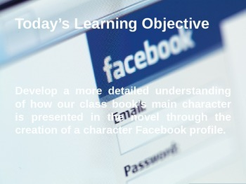 Character Traits Facebook Profile PowerPoint Activity