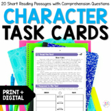 Character Traits & Feelings Reading Task Cards - Distance