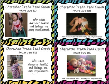 Character Traits & Feelings Task Cards