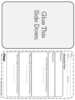 Character Traits Flip Book