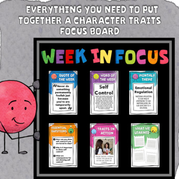 Character Traits Focus Board Editable To Make Your Own Bulletin Board