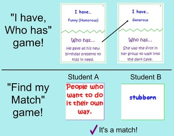 Character Traits Games and Activities!
