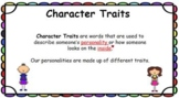 Character Traits Google Slides Pear Deck Presentation - RE