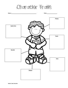 Character Traits- Graphic Organizer