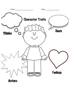 Breathtaking image within character graphic organizer printable