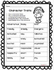 Character Traits: Graphic Organizer For Finding Evidence