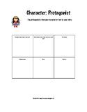 Character Traits Graphic Organizer- Protagonist & Antagonist