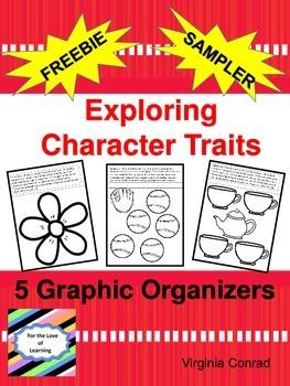 Character Traits:  Graphic Organizer Sampler--FREEBIE