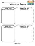 Character Traits Graphic Organizer - Universal