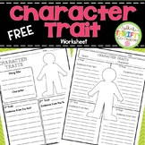 Character Traits Graphic Organizer Worksheet