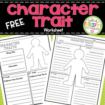 Free Character Education Worksheets Teachers Pay Teachers