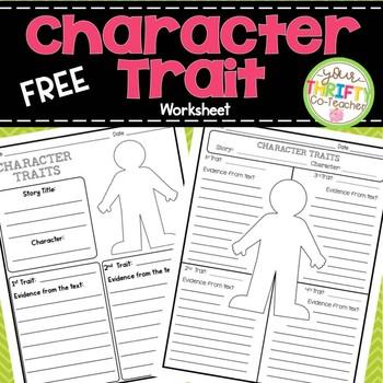 Character Traits Graphic Organizer Worksheet