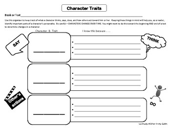 Character Traits Graphic Organizers - FEEDBACK APPRECIATED!