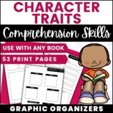 Any Fiction Book Character Traits Graphic Organizers