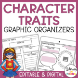 Character Traits Graphic Organizers | Editable PDF | Digit