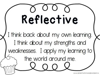 Character Traits & IB Learner Profile Attribute Posters -Black & White version