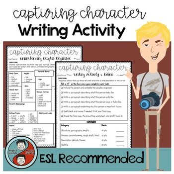 Character Traits - Interactive Activity & Writing Assessment