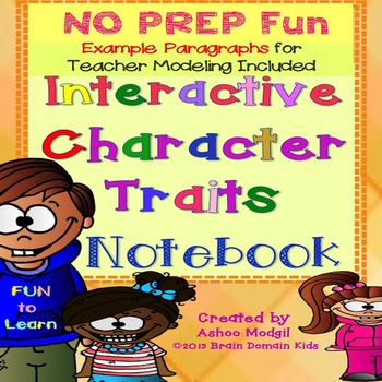 Character Traits Interactive Notebook