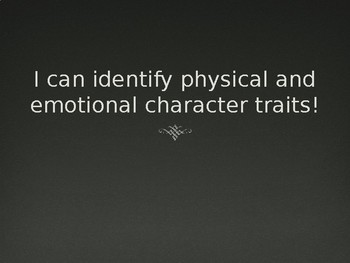 Character Traits Introduction