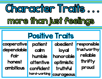 Character Traits - It's More Than Just Feelings