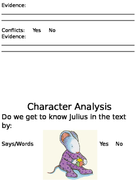 Character Traits Julius and the Baby of the World