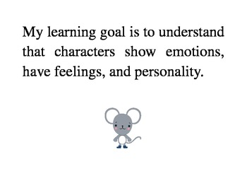 Character Traits/ Learning goal