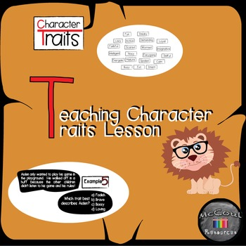 Character Traits Lesson and Game