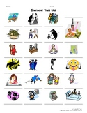 Character Traits List Dictionary