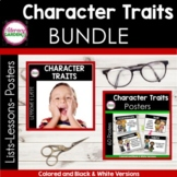 Character Traits Lists, Lessons, and Posters BUNDLE