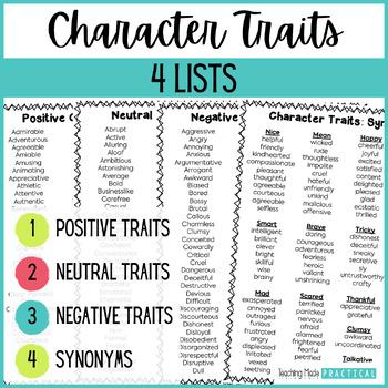Positive Character Traits | Teachers Pay Teachers