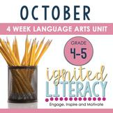 Ignited Literacy: OCTOBER - Pack#2:Spiralled Junior Litera