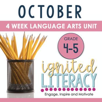 Ignited Literacy OCTOBER {Pack 2} Spiralled Junior Literacy Program