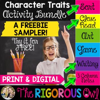 Character Traits Activity Bundle FREEBIE