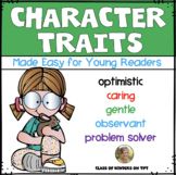 Character Traits {Made Easy} for Young Readers Kindergarte