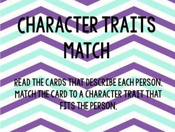 Character Traits Match