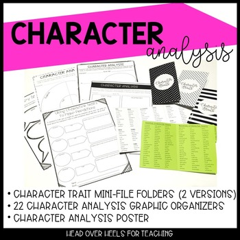 Character Traits Mini-File Folders and Graphic Organizers