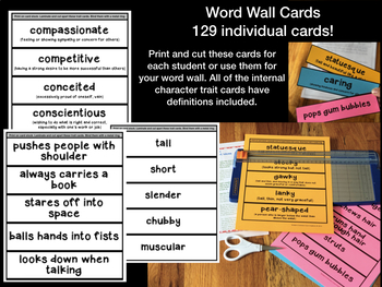 Character Traits Mini Lesson Lesson Activities Pre Post Assessments 3 4 5