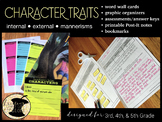 Character Traits Word Wall Graphic Organizers Assessment Post-it Notes