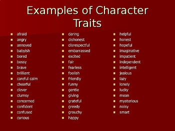 Character Traits Mini Lesson- The Sweetest Fig