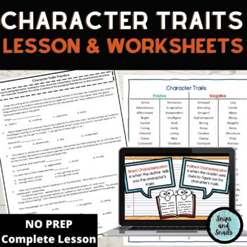 Character Traits Mini-Lesson and Teaching Resources Packet (Grades 3-5)