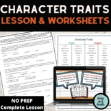 Character Traits Mini-Lesson and Teaching Resources Packet